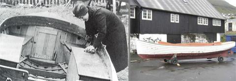 Cederbloom and Rospiggen II, the boat now belongs to a museum in Klaksvik, Faroe Islands