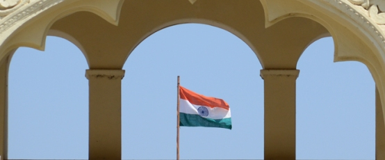 The Indian flag carries the image of the Chakra, the spinning wheel