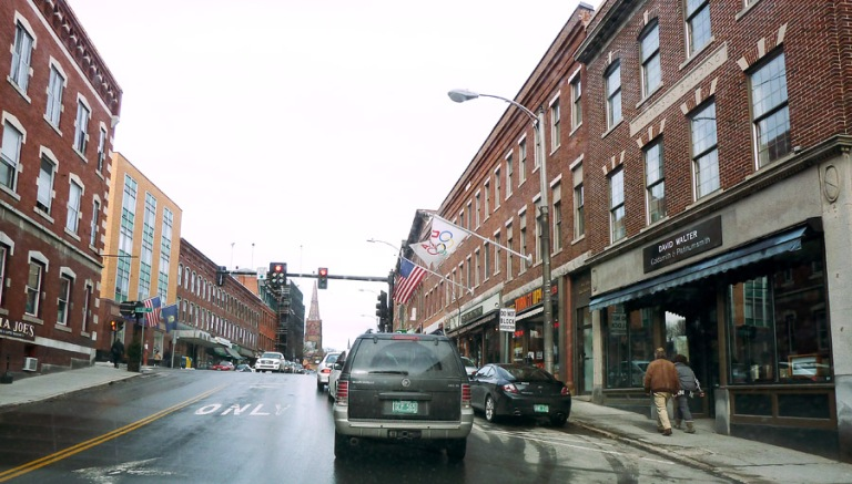 Main Street Brattleboro, Walter Gallery on the right