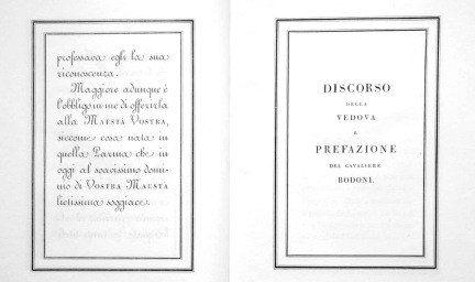 Signora Bodoni's Discourse in Manuale Tipografico. Parma, 1818. Bridwell Library