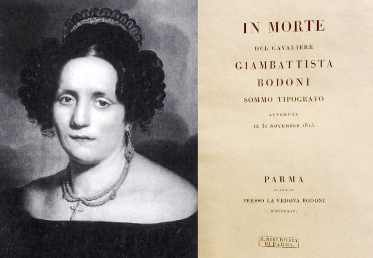 Signora Bodoni and dtitle page