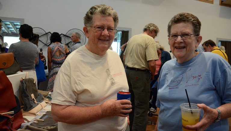 Weaver Edwina Bringle and her twin sister ceramicist Cynthia, resident fixtures at Penland