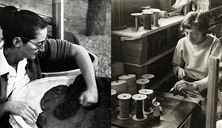 Karen Karnes and Anni Albers, the two artists known to have associated with both Black Mountain College and Penland School of Crafts.