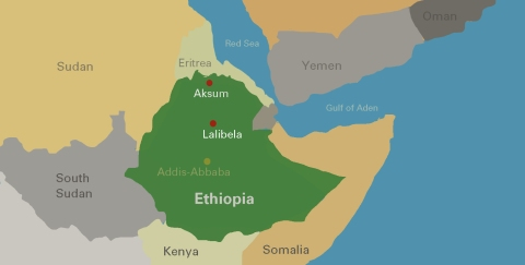 The two holy cities of Aksum and Lalibela.