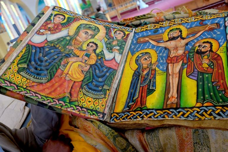 Ethiopian Bible Crucifiction spread