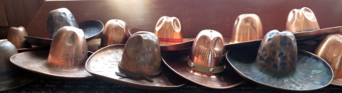 copper western hat collection
