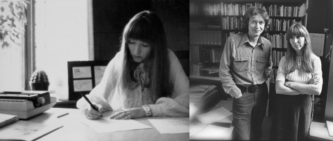 Writing in the 1970's meant pen and typewriter. (right) The beginning of the McCoy + McCoy library.