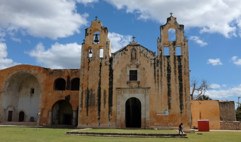 Mayan codices were burned in front of the Catholic church in Mani