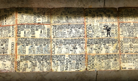We were able to view a replica of a Mayan codice in the Gran Museo del Mundo Maya.