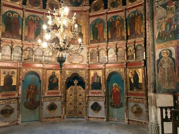 church interior rustic